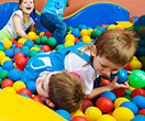 Image with children in a ball pit